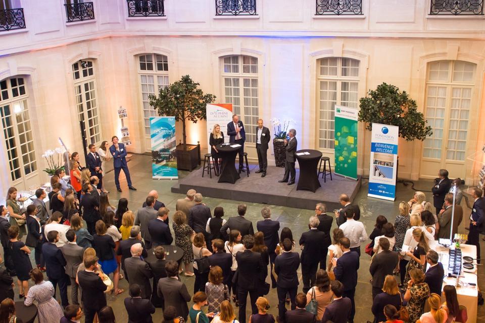 BNP Paribas rassemblait 300 de ses employés diplômés de Paris-Dauphine le 26 juin 2018.